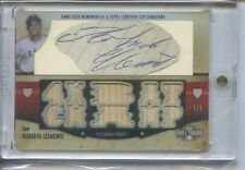 ROBERTO CLEMENTE 1/1 CUT AUTO GAME USED BAT 2012 TRIPLE THREADS