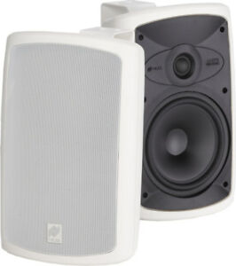 Niles-OS7-3-White-Indoor-Outdoor-Patio-All-Weather-Speakers-Pair-New-W-Brackets