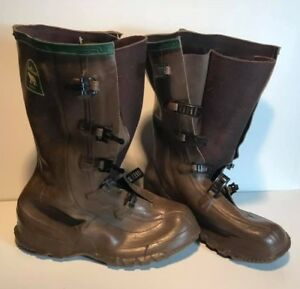 ef78e4aef2e Details about Northerner Brown Servus Rubber Company Buckle Snap Close Rain  Boots (R36)