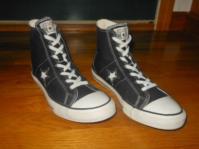 Converse One Star Hi black sneakers Men's sz 9.5 M 103638FT Excellent cond