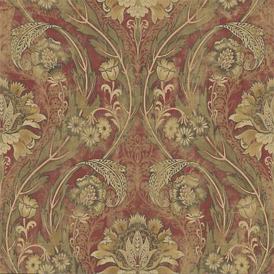 Vintage Floral Victorian Damask Wallpaper Gold Shimmer ...