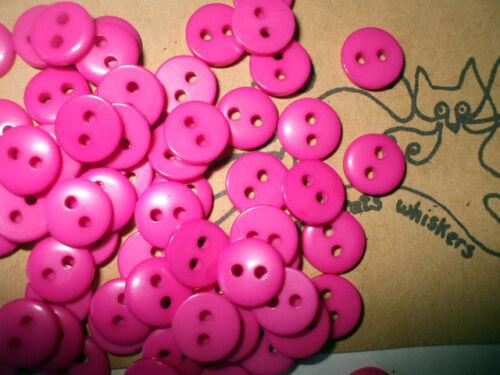 9mm Choisir Couleur Acrylique Boutons x 100 cartes de l/'artisanat embellishmwnt
