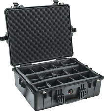 Black Pelican 1600 1604 case includes padded dividers + Free Engraved Nameplate