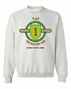 1ST-INFANTRY-DIVISION-034-THE-BIG-RED-ONE-034-BATTLE-amp-CAMPAIGN-SWEATSHIRT