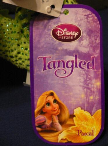 "20.3cm PLUSH~NWT~Disney Store~TANGLED~Rapunzel~Chameleon PASCAL~GREEN~8/"""