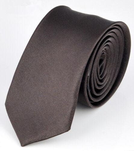 Fashion Casual Men/'s Solid Color Tie Slim Thin Neck Simple Wedding Party Necktie