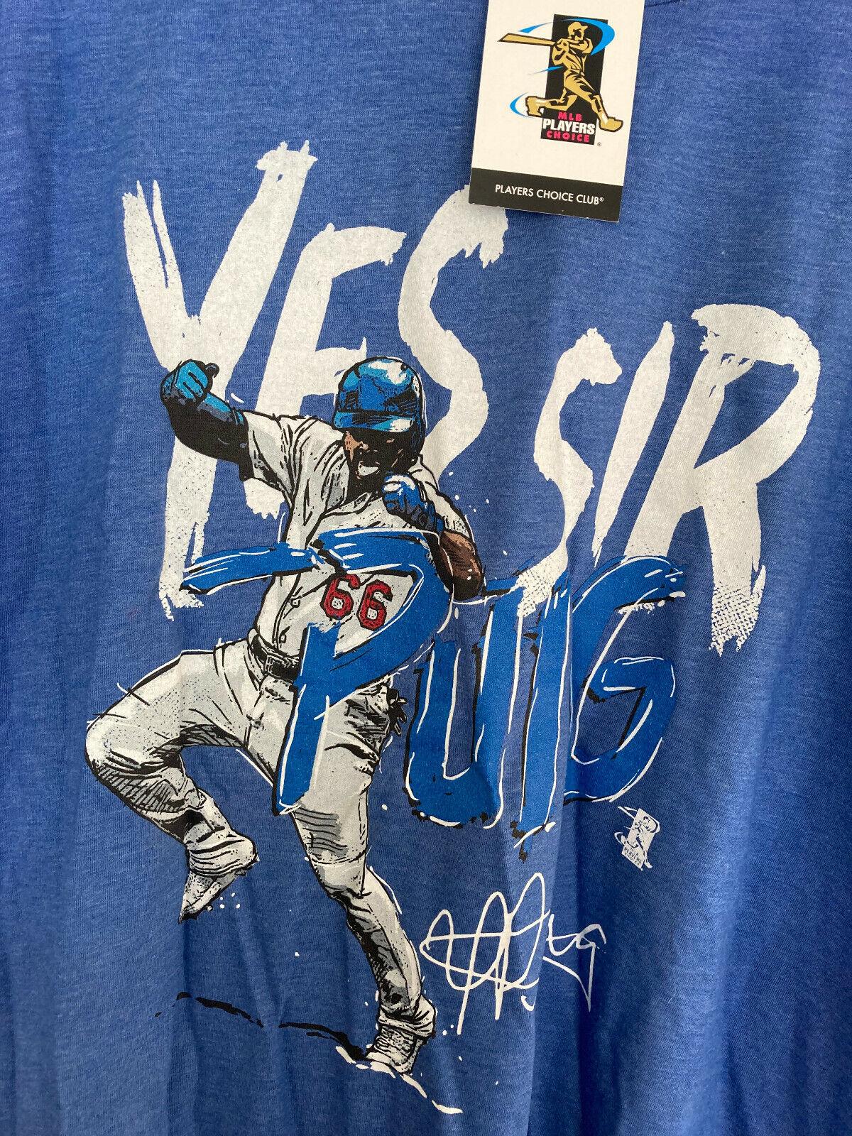 Yasiel Puig Dodgers color themed men's T-shirt in XL Los Angeles Dodger Blue
