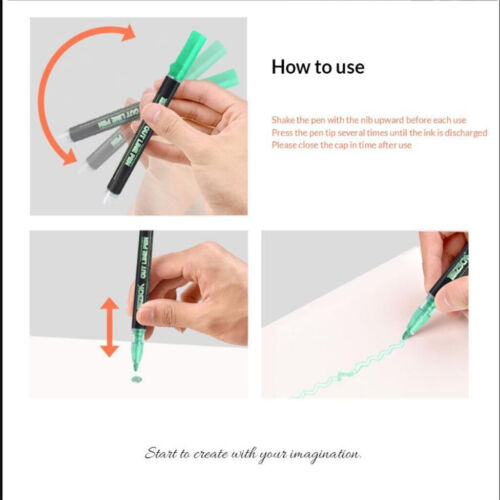 Double Line Pen Schreiben Zeichnung 21 Farben Selbstkontur Metallic Marker