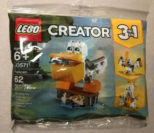 3-In-1 Build Kit PELICAN $.99 Shipping! Set # 30571 Polybag LEGO Creator
