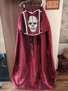 red and black skull goth emo alternative corset prom dress