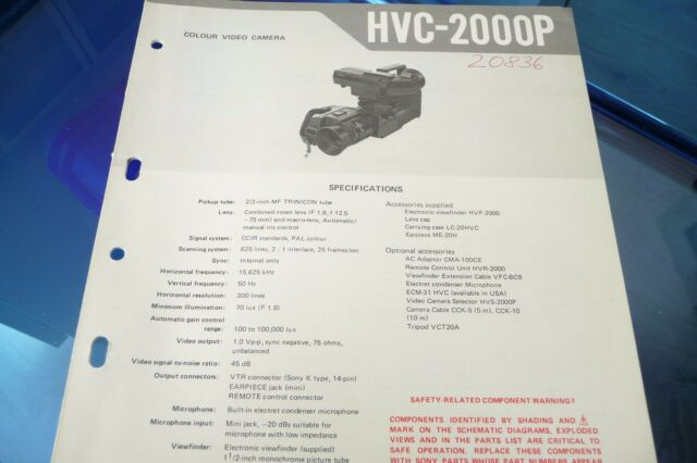 Service Manual For Sony Hvc