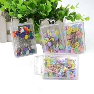 100X Patchwork Pins Flower Button Head Pin DIY Quilting Tool ... : flower head pins quilting - Adamdwight.com