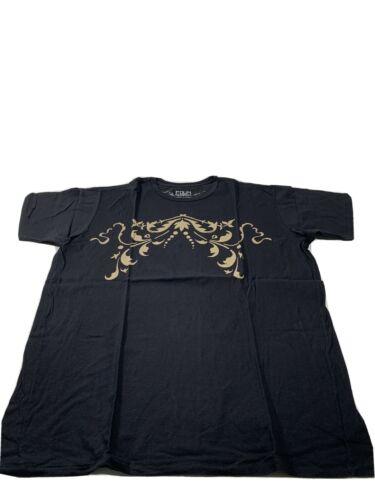 Edun Men's T-shirt Abstract Design Size Large Blac