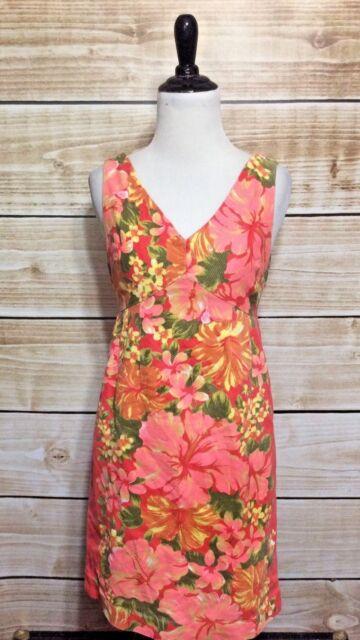 a3a1b8ec867db Tracy Feith For Target Coral Hibiscus Print Sleeveless Sheath Dress Juniors  5
