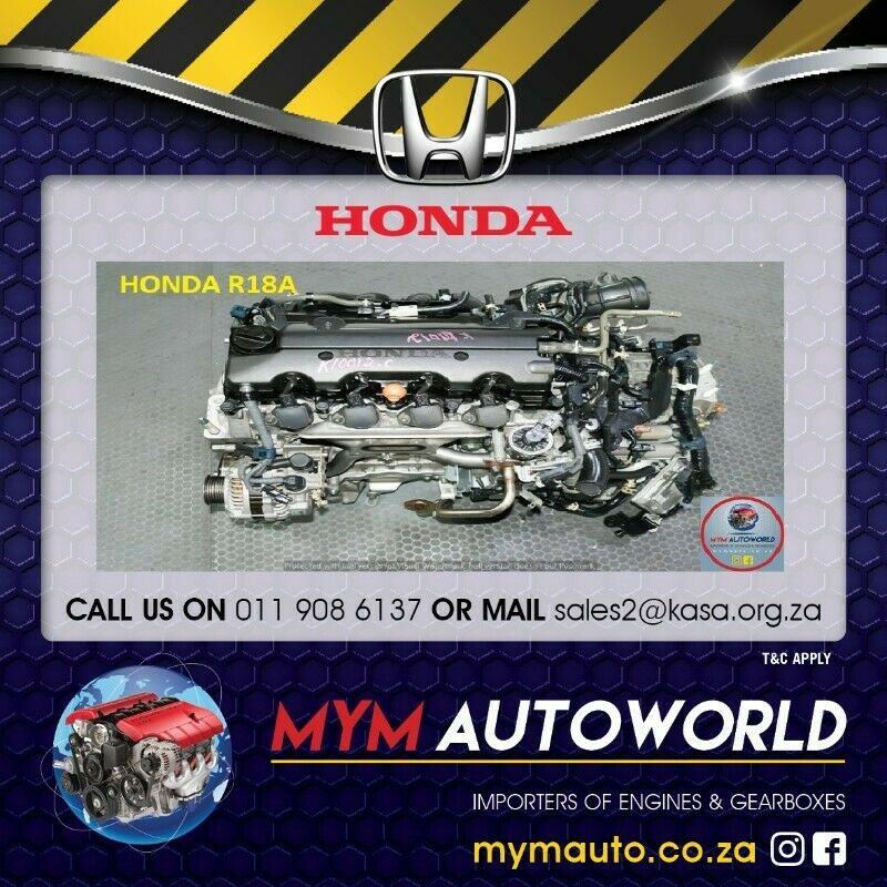 MYM IMPORTERS OF USED HONDA CIVIC/FR-V 1.8L R18A ENGINE