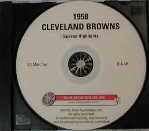 Jim Brown Highlights >> Details About 1958 Cleveland Browns Highlights Now On Dvd Jim Brown