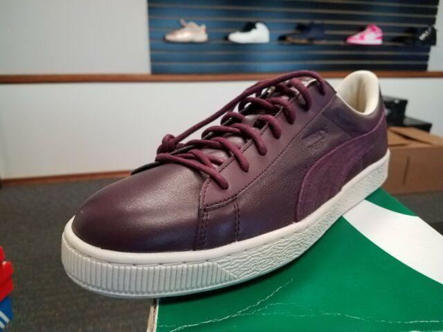 sale retailer 52dc9 f7cfa Brand New in Box Puma Men's Basket Classic CITI Sneakers Winetasting  361352-03