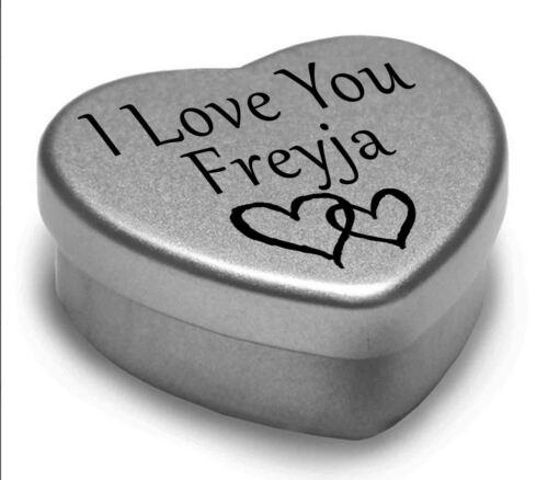 Je vous aime Freyja mini coeur tin cadeau pour je cœur Freyja avec chocolats