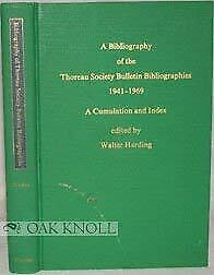 A Bibliography of the Thoreau Society Bulletin Bibliographies 1941-1969