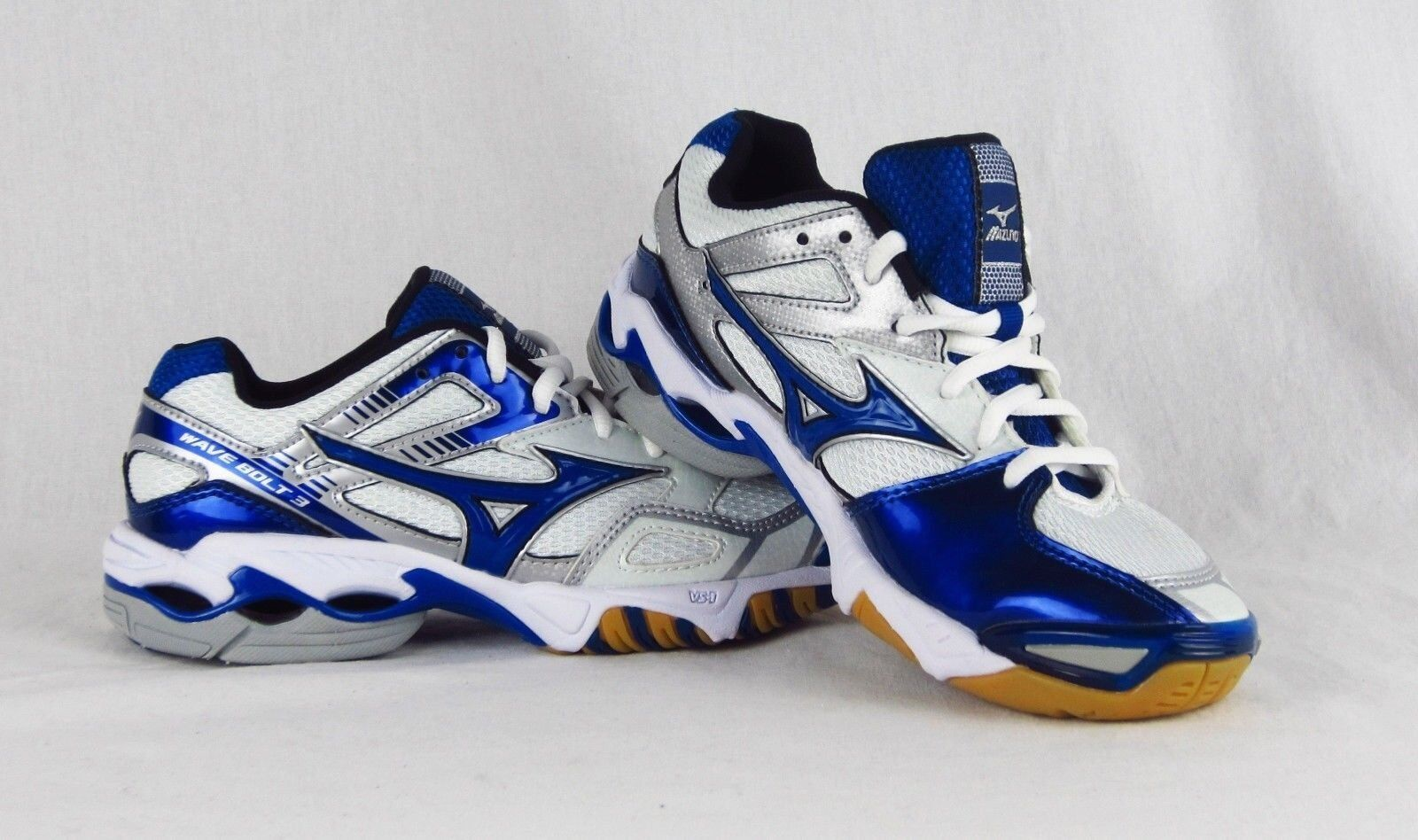 New Womens Mizuno Wave Bolt 3 Volleyball shoes Sneaker Royal bluee White 11 Wide