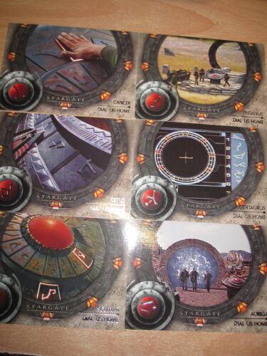 STARGATE SG-1 2002 MINT DIAL US HOME COORDONNEES DE LA TERRE 6 CARDS SET COMPLET