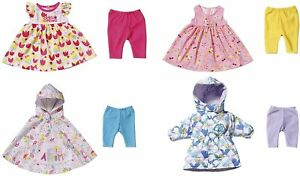 Baby Born Deluxe Seasonal 4 Outfits Set for 43cm baby Dolls Doll Outfit Zapf