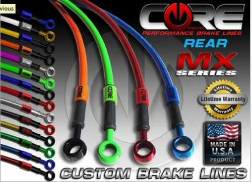 CORE MOTO REAR CUSTOM STAINLESS BRAKE LINE KIT FITS KTM 125 SX 2012-2014