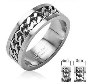 Womens Stainless Steel Spinner Ring