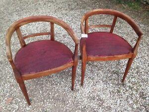 Arredamento Anni 30 : Vecchie sedie poltroncine anni seduta tessuto con molle