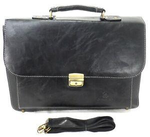 Executive Laptop Messenger Business Office Work Cabin Travel Briefcase Bag Black