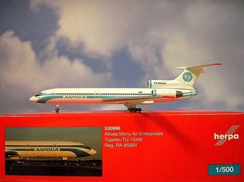 Herpa Wings 1:500 Tupolev TU-154M Alrosa Mirny Air 530996  Modellairport 500