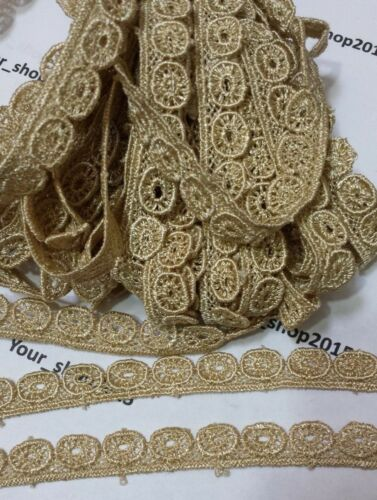 1 Yard Beautiful embroidered pattern lace trimming ribbon Net Wedding dress