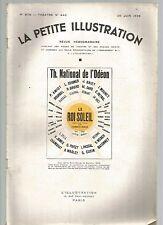 LA PETITE ILLUSTRATION N°440 - LE ROI SOLEIL PIECE EN 3 ACTES DE G. DE BOUHELIER