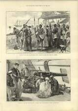 1889 Hanmer Church Destroyed By Fire Captured Arab Slave Traders Samoa Natives