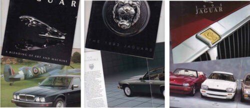 Three 1990 93 /& 94 JAGUAR XJ6 SOVEREIGN VANDEN PLAS XJ-S XJR-S US Brochures