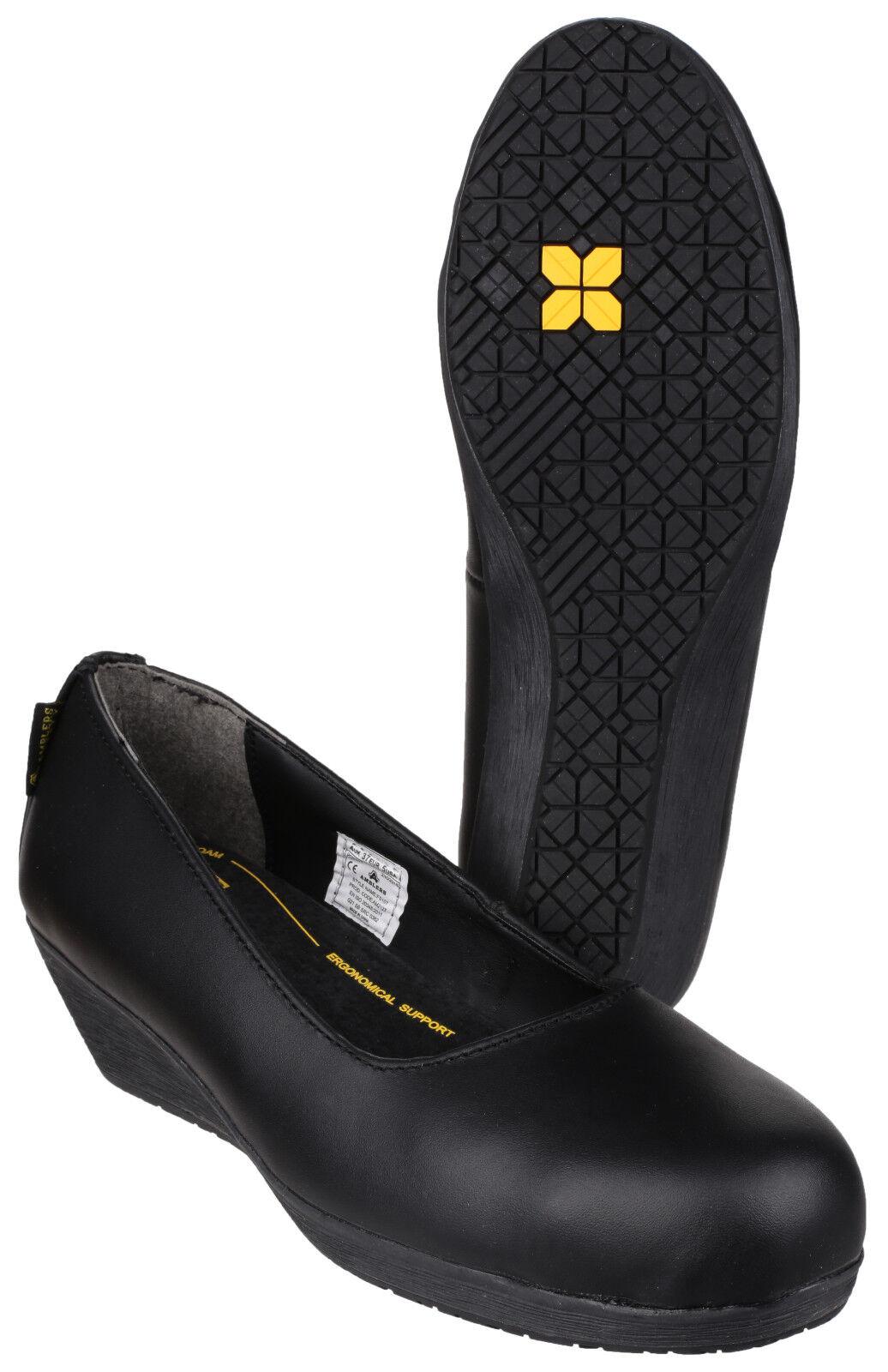 Amblers fs107 Seguridad Mujer Puntera de acero acero acero industrial Zapatillas Planas da1a61
