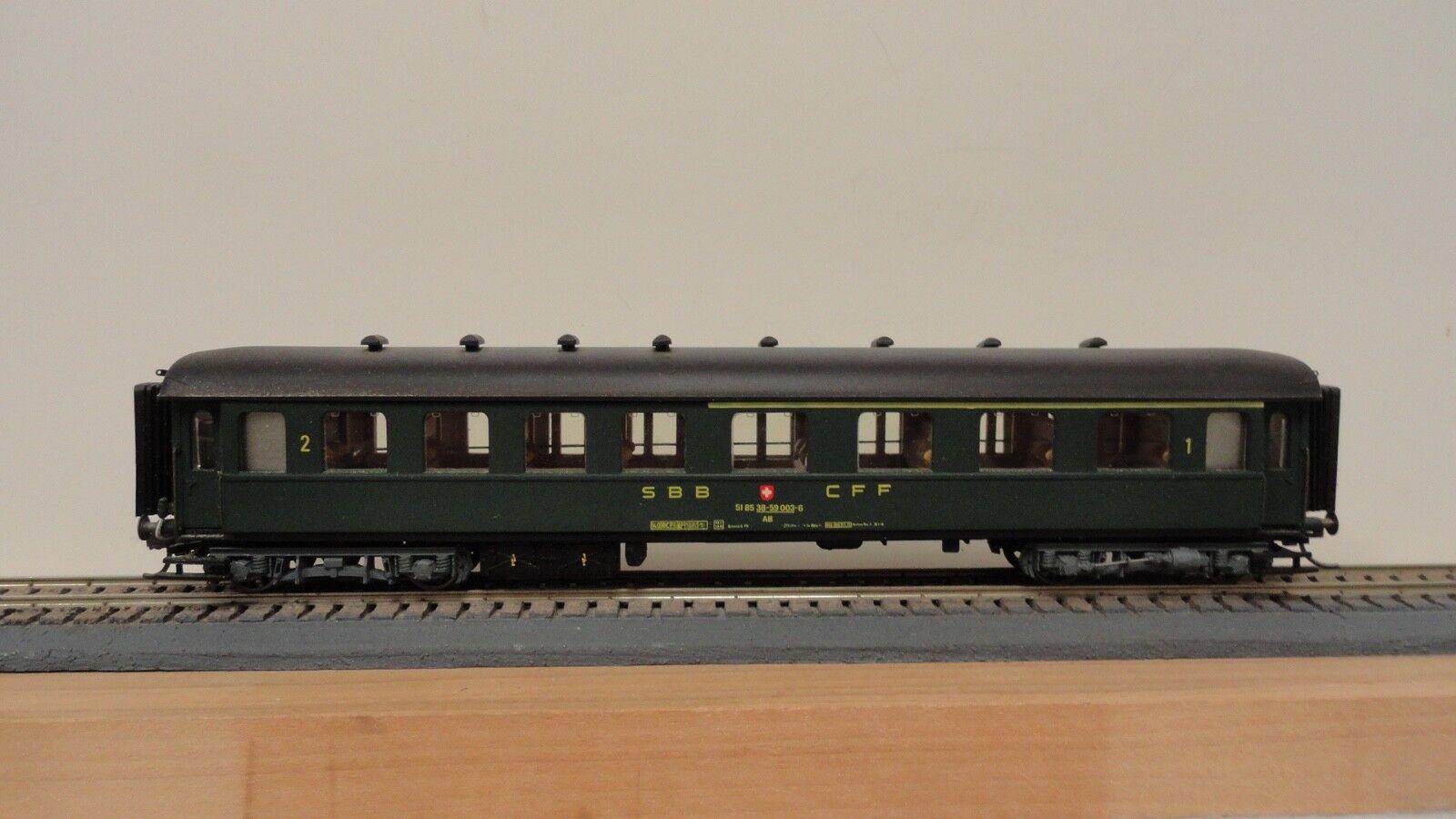 Metropolitan HO J828 SBB-CFF pullman UIC passenger car 1st 2nd class. NOB.