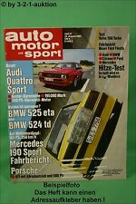 AMS Auto Motor Sport 17/83 Audi Quattro Sport BMW Alpina B6 DB 190E 2,3