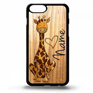 Personalised-Giraffe-cartoon-cute-pattern-love-heart-name-phone-case-cover