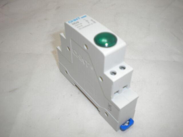 CHINT ND9-G230 DIN RAIL MOUNTED SINGLE POLE INDICATOR LAMP 1 LED GREEN 230V