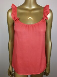 REVIEW-Tank-Coral-CAMI-Blouse-Top-Shirt-TANK-SUIT-Career-Formal-Dressy-6-XS-S