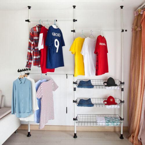 SoBuy 2er Set Aufbewahrungskörbe für Kleiderständer FRG34-P02