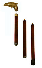 Gadget Walking Stick Vintage Cane Eagle Brass Handle With LIGHT Solid Wood Shaft