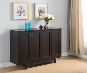 151370 Red Cocoa Buffet Sideboard Kitchen Serving Table Console Home Furniture