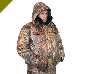 Hiver Costume Veste Pantalon Overall Treillis Félin Outdoor Pêche Chasse Protection Thermique-afficher Le Titre D'origine
