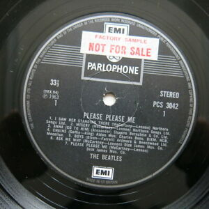 THE-BEATLES-Please-Please-Me-UK-2-boxed-EMI-label-vinyl-LP-Factory-Sample