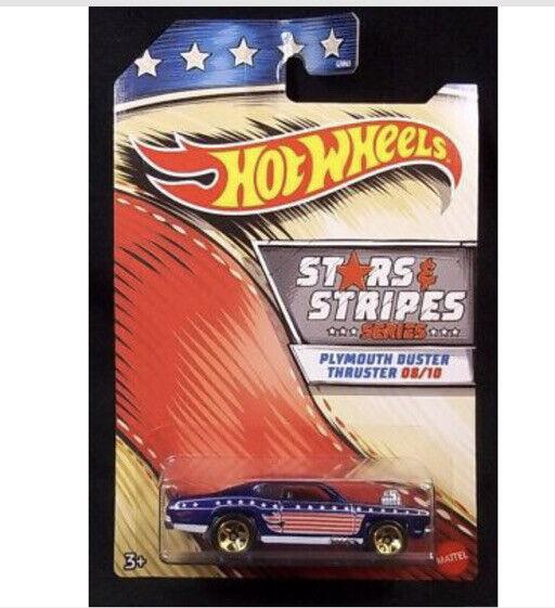 HOT WHEELS STARS and STRIPES 10 CAR SET WALMART EXCLUSIVE