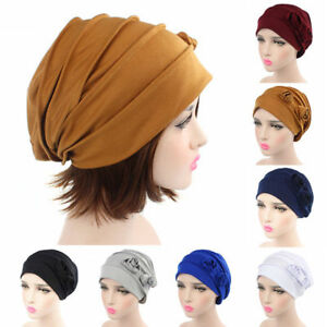 New Fashion Women Cotton Flower Hat Cancer Chemo Beanie Baggy Cap Turban Hijab