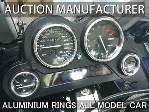 Bmw K1200 LT 1200LT  Polished Aluminium Trim Rings Instrument Cluster x4