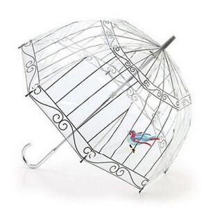 Lulu-Guinness-par-designer-dome-Fulton-clair-en-parapluie-unique-imprime